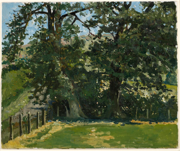 SERGEANT Carolyn (1937-2018) - Oaks at the corner of a Herefordshire field.
