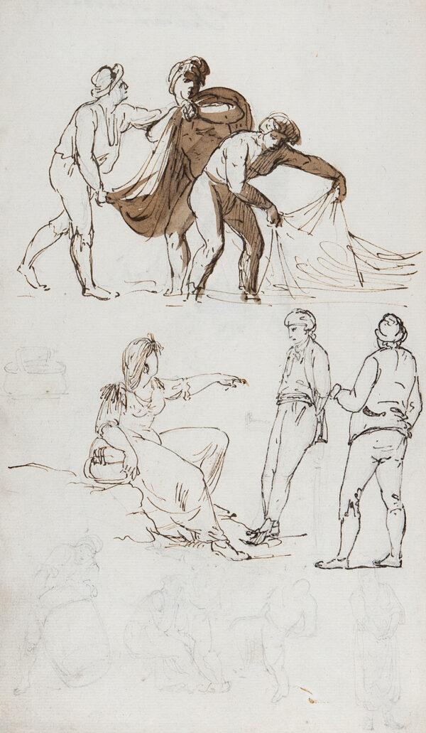 SERRES John Thomas (1759-1825) - 'Toscana' – fishermen on the Tuscan coast.
