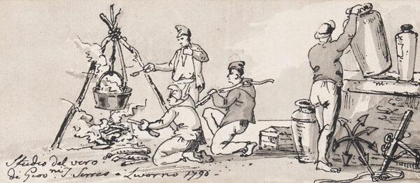 SERRES John Thomas (1759-1825) - 'Studio dal vero / Livorno'.
