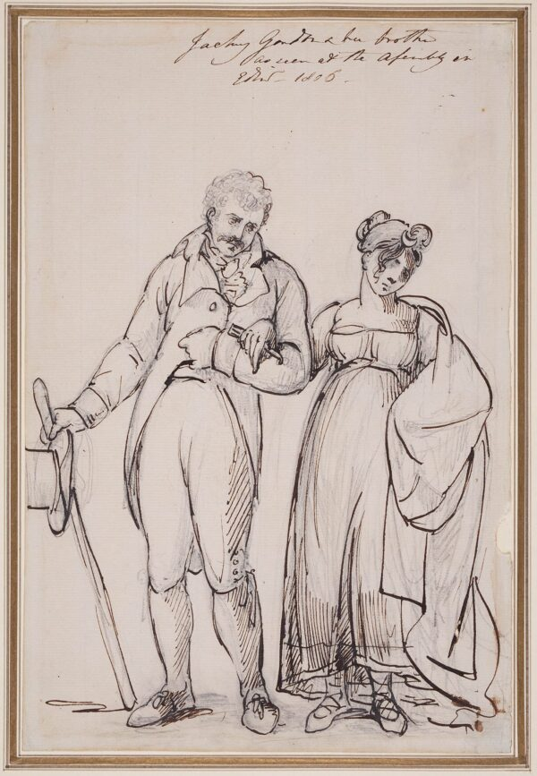 SERRES John Thomas (1759-1825) - 'Jacky Gordon and her brother / as seen at the Assembly in Edinb.