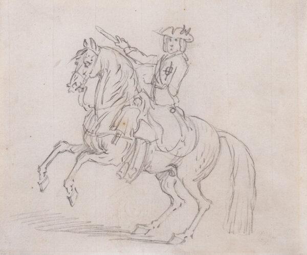 SEYMOUR James (c.1702-1752) - Horseman on prancing steed.
