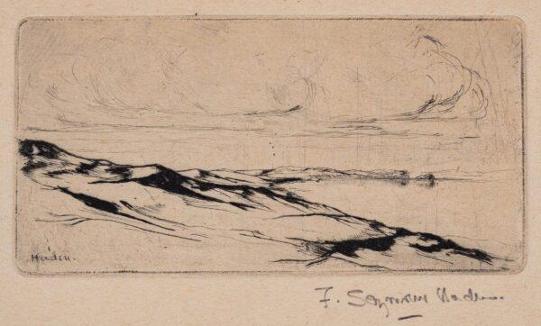 SEYMOUR HADEN Sir Francis PRE (1818-1910) - A Coast.