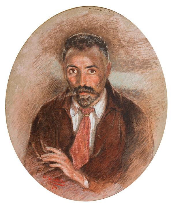 SHACKLETON William (1872-1933) - Self-portrait at 42 years.