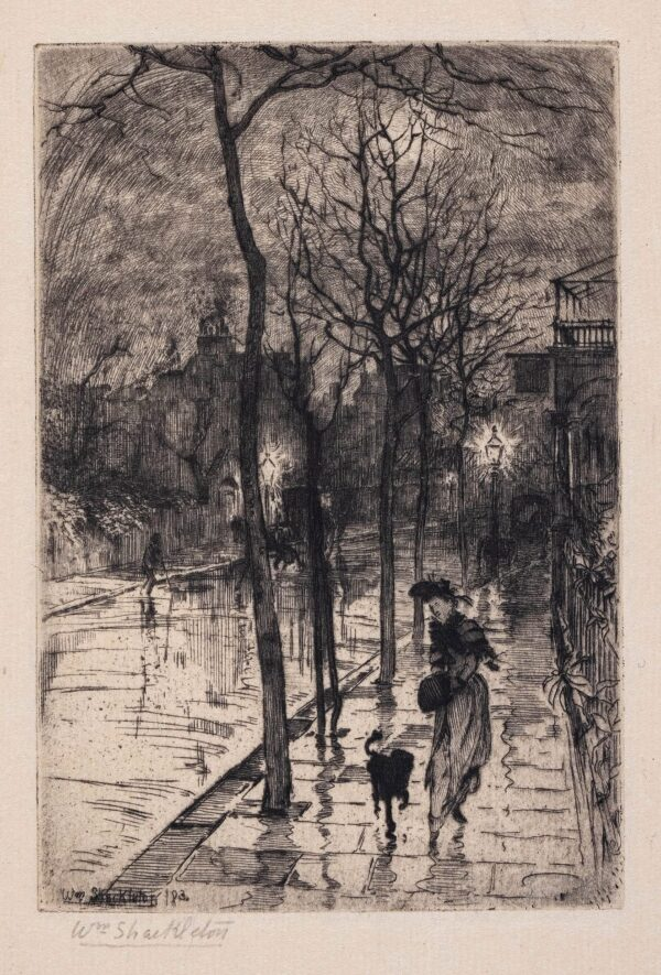 SHACKLETON William (1872-1933) - Street at dusk.