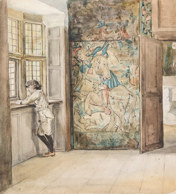 SHANNON Sir James Jebusa (1862-1923) - The Dreamer; A study of John Manner at Haddon Hall, possibly in the Earl's bedroom.