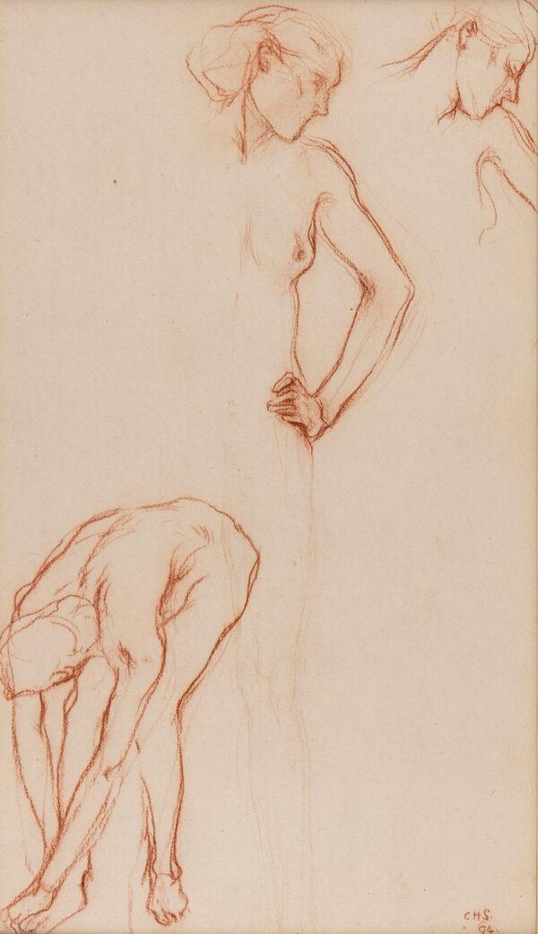 SHANNON Charles Hazlewood R.A. (1863-1937) - Figure studies.