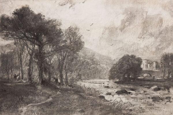 SHEFFIELD George (1839-1892) - River landscape.