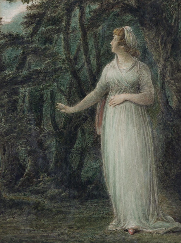 SHELLEY Samuel O.W.S. (1750-1808) - 'The Lady from 'Comus' lost, thus exposing herself' (to the seducer Comus), Milton.