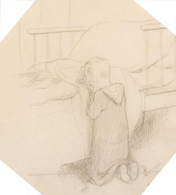SHEPARD Ernest Howard M.C. (1879-1976) - Vespers: Christopher Robin saying his prayers.