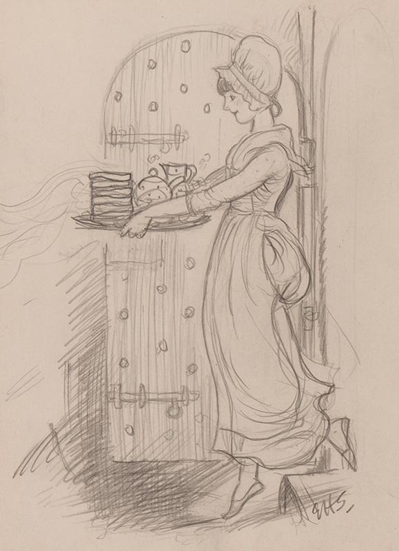SHEPARD Ernest Howard O.B.E. M.C. (1879-1976) - 'The Goaler's daughter' visiting Toad.