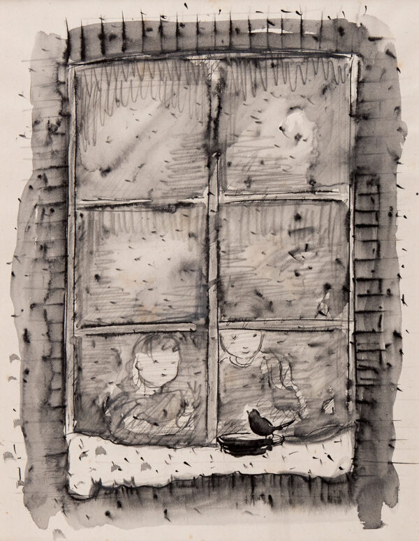 SHEPARD Ernest Howard M.C. (1879-1976) - 'Rough idea for Winter Scene'.