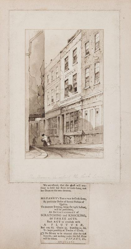 SHEPHERD George Sidney (1782-1862) - London 'The house in Cock Lane…'.