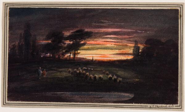 SHEPHERD George Sidney (1784-1862) - Sunset.