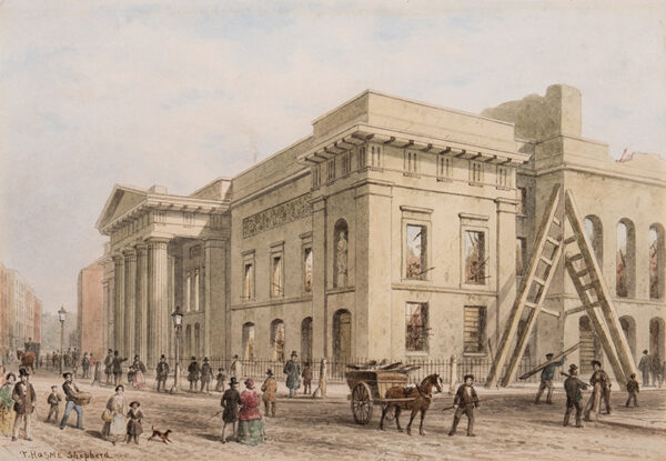 SHEPHERD Thomas Hosmer (1792-1864) - Covent Garden: The Opera House after the 1856 fire.