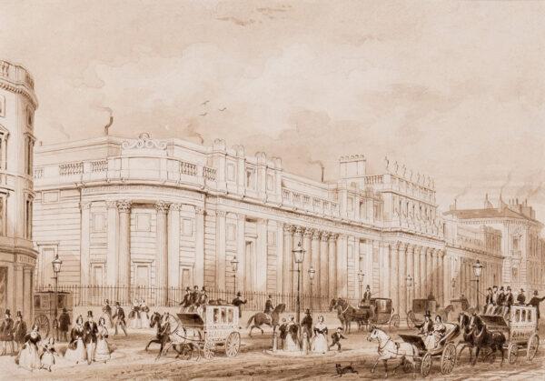 SHEPHERD Thomas Hosmer (1792-1864) - The Bank of England, (1828) designed by Sir John Soane Pen, brush and sepia ink.