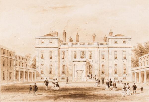 SHEPHERD Thomas Hosmer (1792-1864) - Marlborough House – the Entrance Front before Pennethorne's 1860s alterations.