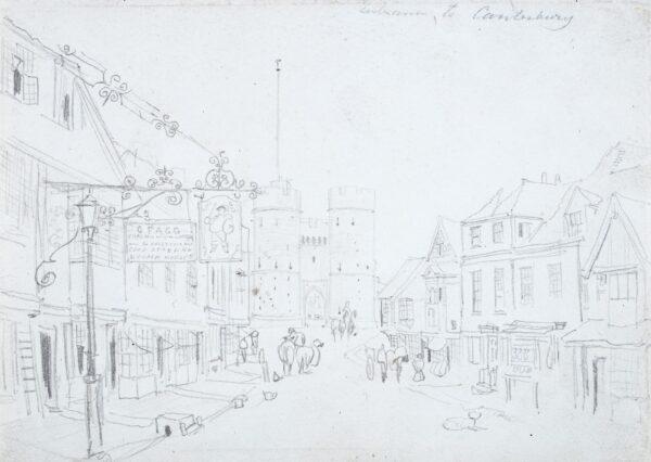 SHEPHERD Thomas Hosmer (1792-1864) - 'Entrance to Canterbury'.