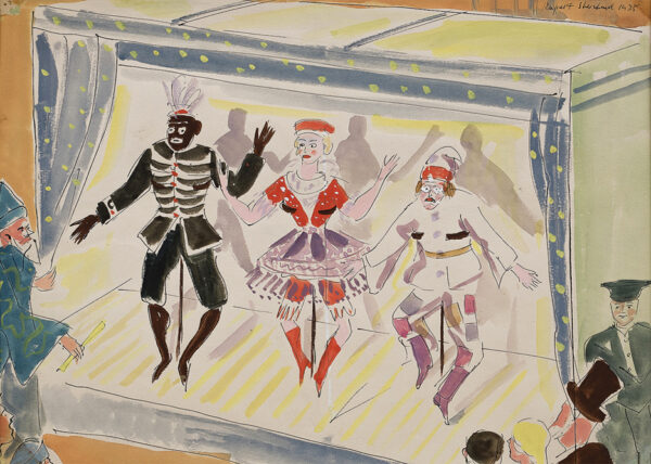 SHEPPARD Rupert (1909-1992) - 'Lichine, Danilova and Woizikorski' reputedly dancing 'Petrouchka' for Colonel de Basil's Ballets Russes de Monte Carlo, 1935.
