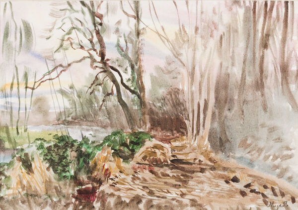 SHEPPARD Maurice P.P.R.W.S. N.E.A.C. (b.1947) - Wintry woodland.