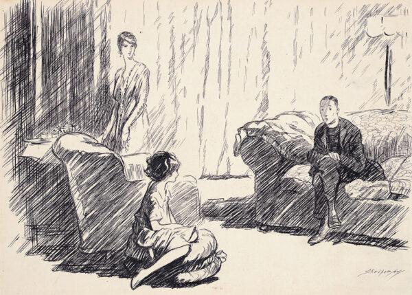 SHEPPERSON Claude Allin R.I (1867-1921) - The Home Front: Kensington.
