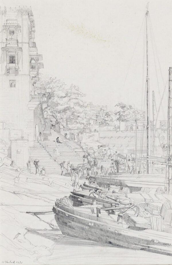 SHERLOCK Marjorie (1897-1973) - On the Ganges.
