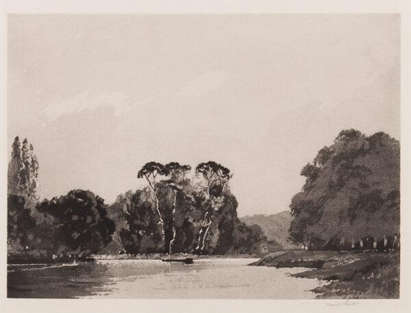 SHORT Sir Frank P.R.E. R.A. (1857-1945) - 'The Thames at Twickenham'.