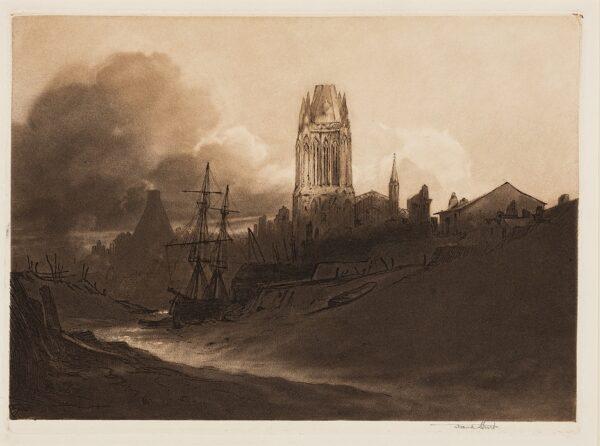 SHORT Sir Frank R.A. (1857-1945) - 'St Mary Redcliffe, Bristol' (MN.