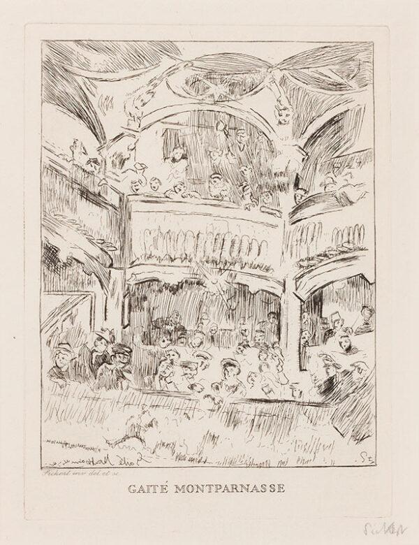 Walter Richard SICKERT R.A. N.E.A.C. (1860-1942) - 'Gaite Montparnasse' (RB.