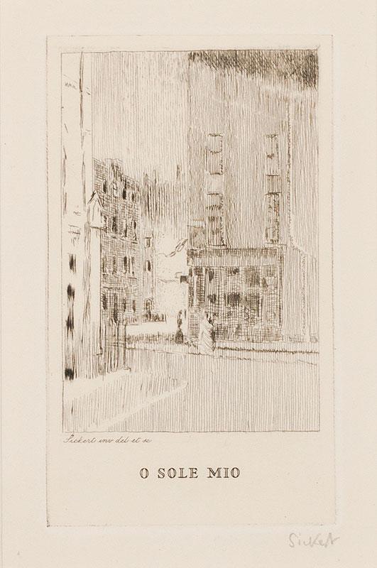 Walter Richard SICKERT R.A. N.E.A.C. (1860-1942) - 'O Sole Mio'; Maple Street (RB.