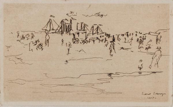 SICKERT Walter Richard (1860-1942) - 'Scheveningen at play, 1887'.