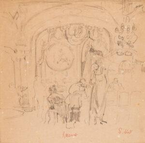 SICKERT Walter Richard (1860-1942) - 'Baccarat'.