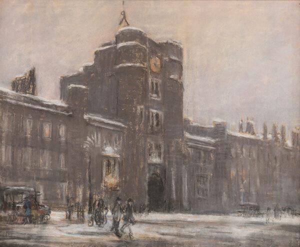 SICKERT Bernard (1862-1932) (Circle of) - Snow – St James's Palace.