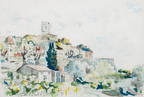SIGNAC Paul (1863-1935) - 'St Paul', Provence.