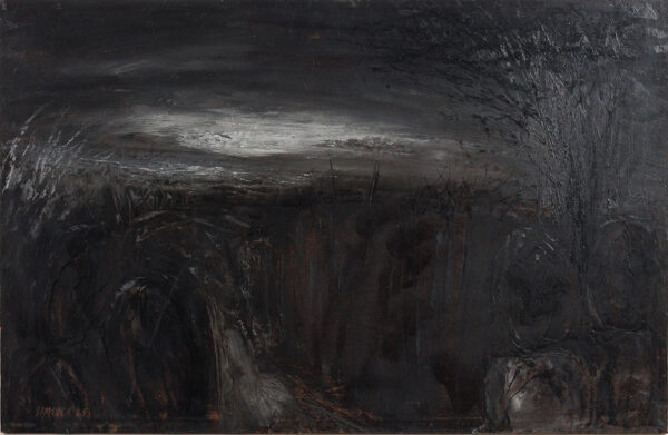 SIMCOCK Jack (1929-2012) - 'Figures in a Dark Lane'.