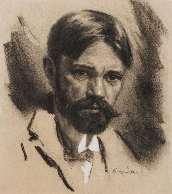SIMPSON Joseph (1879-1939) - Portrait of D H Lawrence (1885-1930).