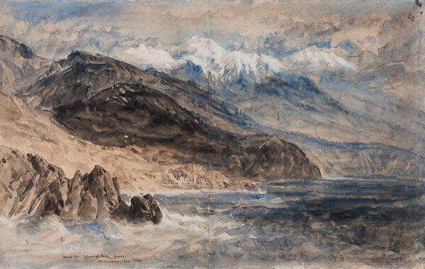 SIMPSON William (1823-1899) - 'Mount Ida, Island of Crete, Greece'.