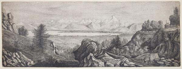 SITWELL Lt. Harold Cooper, 9th Bengal Light Infantry (1837-1884) - Indian landscape.