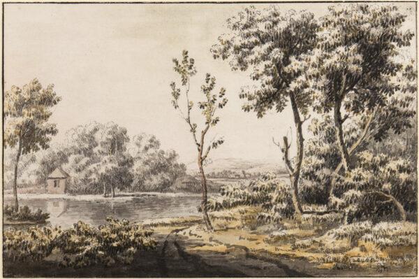 SKELTON Jonathan (1735-1759) - Pencil, pen, ink and watercolour.