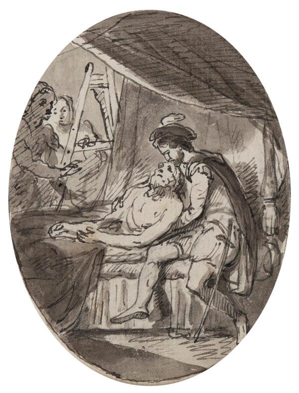 SMIRKE Robert R.A. (1752-1845) - 'The Death of Leonard da Vinci'.