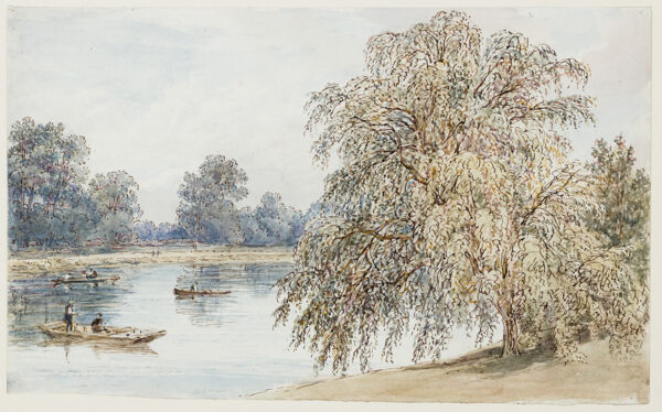 SMIRKE Mary (1809-1896) - 'A willow by the Thames near Barnes'.