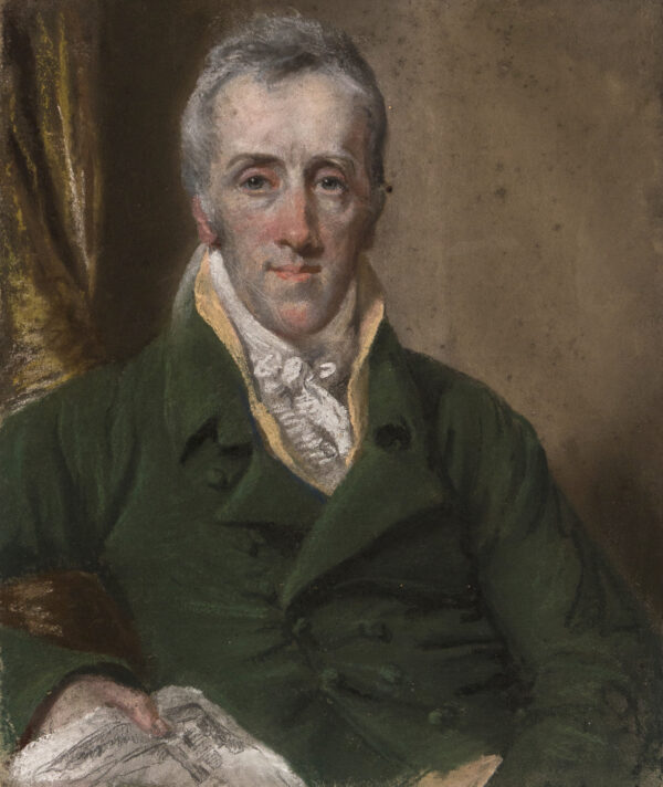 SMITH John Raphael (1751-1812) - 'Portrait of Mr Dagley, Artist, painted at Doncaster in 1809 by Mr Smith of Newman Street, London'.