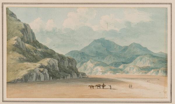 SMITH John 'Warwick' (1749-1831) - 'View 0n the Fraeth Mawr Sands, towards Snowdon / 0n crossing them between Penmorsa & Cynant / Merionethshire'.