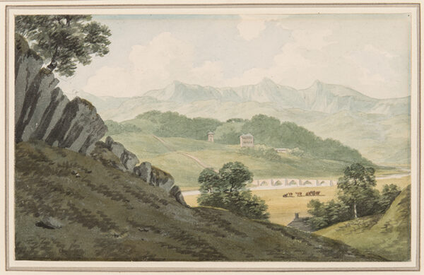 SMITH John 'Warwick' (1749-1831) - 'Llan Elltyd Bridge over the Maw – 0n the road between / Barmouth and Dolgelly – looking to Hnegwrt, and beyond to Cader Idris / Merionethshire' (sic).