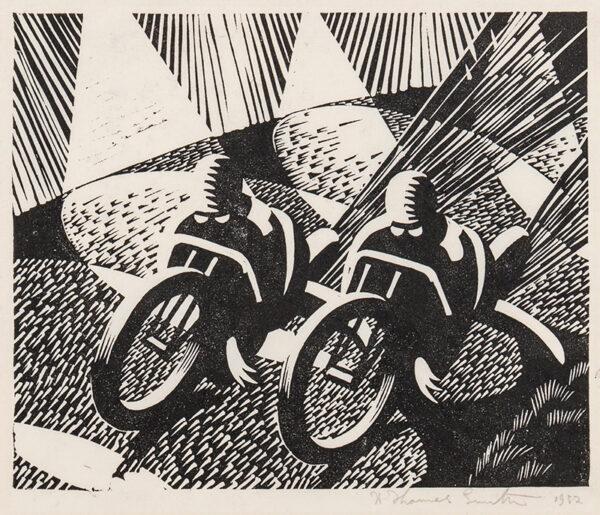 SMITH A Thomas (fl.1930s) - Motor Bike Racers.