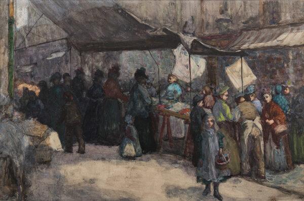 SMITHARD George Reginald (1873-1919) - Market scene.