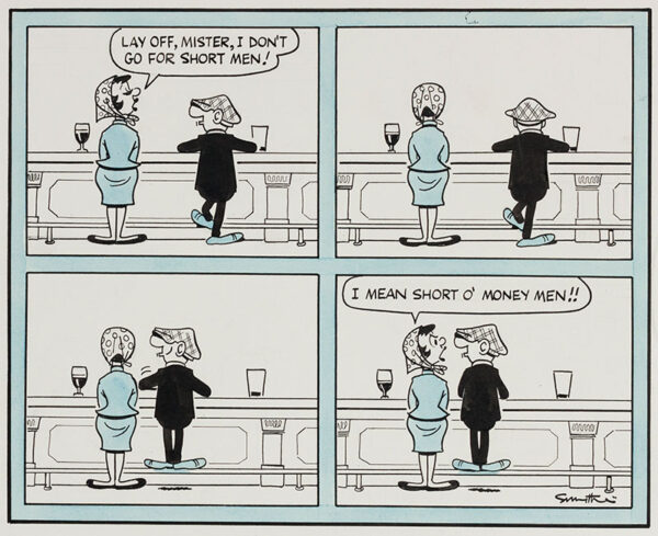 SMYTHE Reg (1917-1998) - Andy Capp: at the bar.