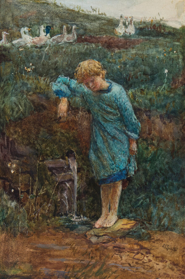 SMYTHE Lionel Percy R.A. R.W.S. (1839-1918) - The Spring.