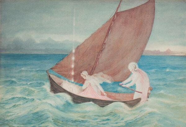 SOLOMON Simeon (1840-1905) - The Final Crossing.