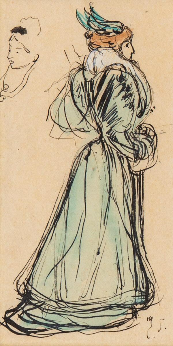 SOMM Henri (Francois-Clement Sommier 1844-1907) - A winged hat.