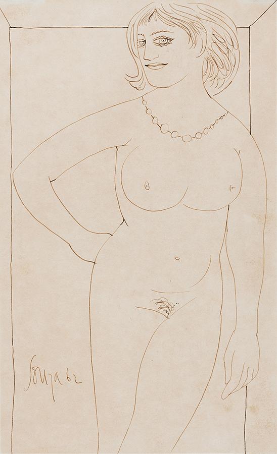 SOUZA Francis Newton (1924-2002) - Standing Nude.